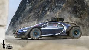 someone thought the bugatti chiron might work as a baja racer