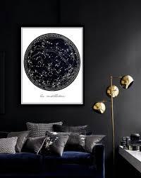 Living Room Decor Etsy Constellation Print Printable File Constellation Map La