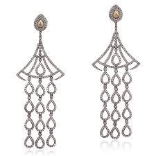 silver chandelier earrings sterling silver diamond chandelier earrings online mettlle