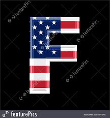 letter american flag illustration