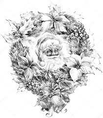 santa claus portrait sketch sketch of santa claus background