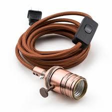 vintage copper pendant light l cord w antique finish 11ft