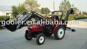 tractor with front end loader and backhoe tractor with front end