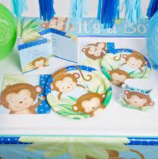 amazon com boy monkey baby shower diaper cake kit 25pc kitchen