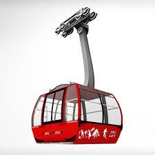 ski lift gondola cable car by kr3atura 3docean