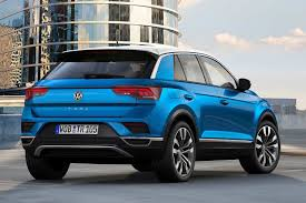 blue volkswagen volkswagen t roc makes its world premiere autobics