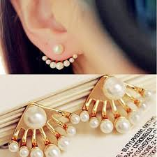 ear cuff online designer small pearl ear cuff ear stud earrings women
