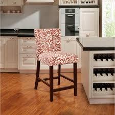 linon home decor linon home decor morocco lava 30 in red cushioned bar stool