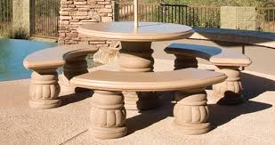 cement table and bench concrete landscape tables outdoor concrete tables phoenix