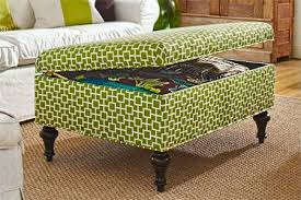 Green Ottoman Chic Green Storage Ottoman How To Build A Storage Ottoman This