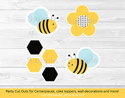 bumble bee cake toppers bumble bee party cutouts decorations printable ebay