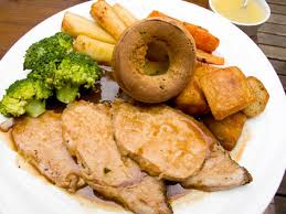 sunday roast with pudding food guide