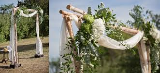 rent wedding arch dr kelsey graham wedding officiant we linen birch poles