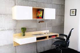 Modern Laptop Desk by Interior Beige White Modern Stained Solid Wod Wall Mounted Desk