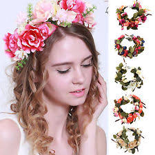 flower band floral festival headband women s accessories ebay