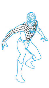 draw spiderman easy step step drawing tutorial