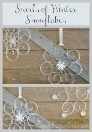 diy acrylic snowflakes snowflakes caign and acrylics