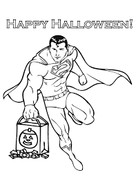 superman trick treat coloring u0026 coloring pages