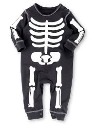 Halloween Skeleton Bodysuit Pure Cotton Halloween Skeleton All In One M U0026s