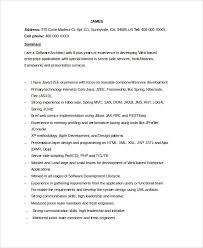 Ui Developer Resume Format This Resume Is Especially For The Seasoned Web Developers Who Have