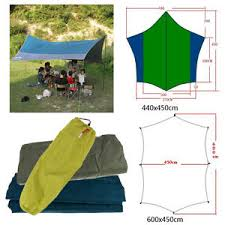 Beach Awnings Canopies Waterproof Outdoor Camping Trail Tent Tarp Sunshade Beach Awning