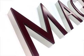 dura architectural signage acrylic and painted aluminum letters
