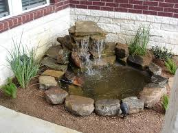 Small Backyard Fish Pond Ideas A Cute Little Pond For Someone With Not Much Space Flower Bed