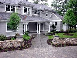 Front Yard Walkway Landscaping Ideas - front walkway landscaping ideas pictures front flagstone walkway