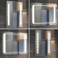bathroom cabinets illuminated bathroom mirrors with demister