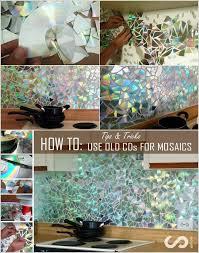 how to make a backsplash in your kitchen make a shining mosaic backsplash for your kitchen with cds