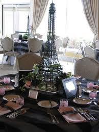 eiffel tower centerpiece theme for sweetheart banquet