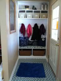 front hall closet into mini mudroom hip violet blog