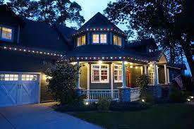 custom colorado home with permanent lighting