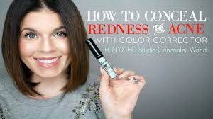 how to conceal redness and acne with makeup green color