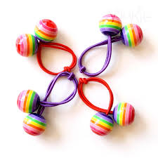 bobbles hair rainbow bobbles pony holder hair tie elastic hair