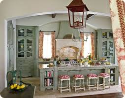 country kitchen blue with its bright colors and rustic