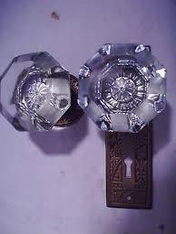 purple glass door knobs antique glass door knob privacy set 8 pt cut glass mortise lock