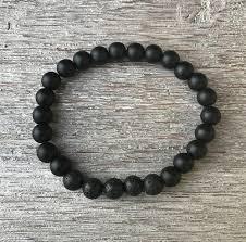 bracelet man onyx images Men 39 s onyx and lava rock aromatherapy bracelet zavia jpg