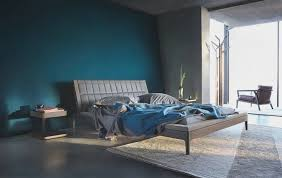 stunning bedroom ideas home design with dark blue wall paint along