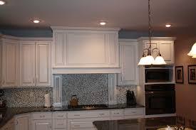 painted glazed kitchen cabinets white kitchen with dark back splash designs home design idea