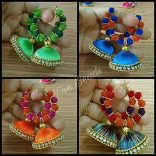 earrings app 1277 best silk thread jewelry images on thread