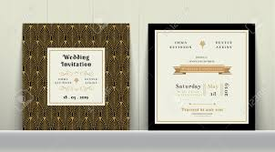 Wedding Invitation E Cards Art Deco Wedding Invitation Card In Gold And Black Colour On
