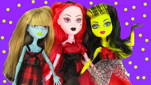 Monster High Halloween Dress Up by Ghoulish Girlz Goth Doll Unboxing Toy Review Monster High Dress Up
