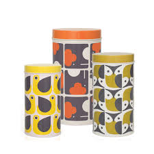 kitchen storage canister orla kiely animals set of 3 storage canisters kitchen storage