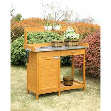 potting table with sink bench retail price potting table with storage outdoor sink bench