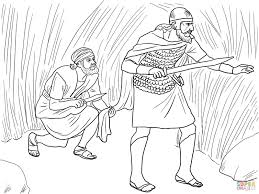 david cuts saul u0027s robe coloring page free printable coloring pages