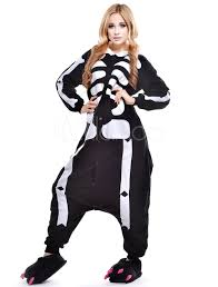 skeleton halloween costumes for adults kigurumi pajama skeleton onesie for fleece flannel halloween