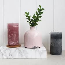 Deco Vase Ceramic Cracked Effect Pink Vase Posh Totty Designs