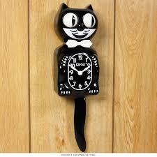 kit kat animated black cat cordless clock vintage clocks