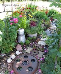 organized clutter yard of flowers a garden island